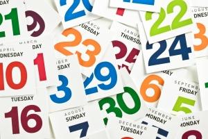 Image result for calendar dates
